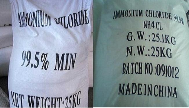 Kết quả hình ảnh cho MUỐI LẠNH AMMONIUM CHLORIDE NH4CL-AMONI CLORUA