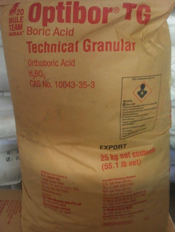AXIT BORIC (H3BO3) 99,5% MỸ